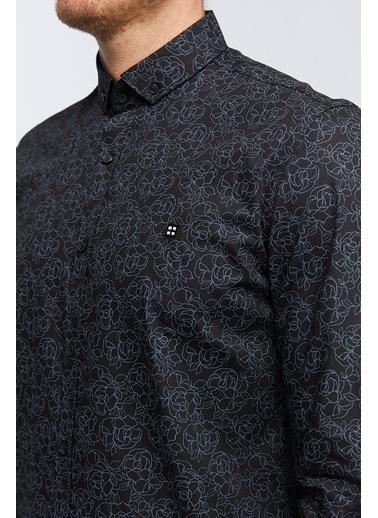 Avva Desenli Gömlek Siyah